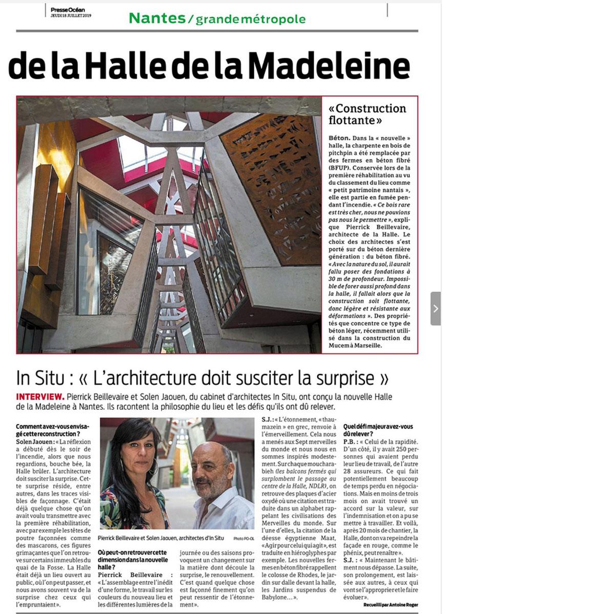 In situ - Architecture, Culture(s) & Ville -Moucharabieh - La Halle de la Madeleine à Nantes