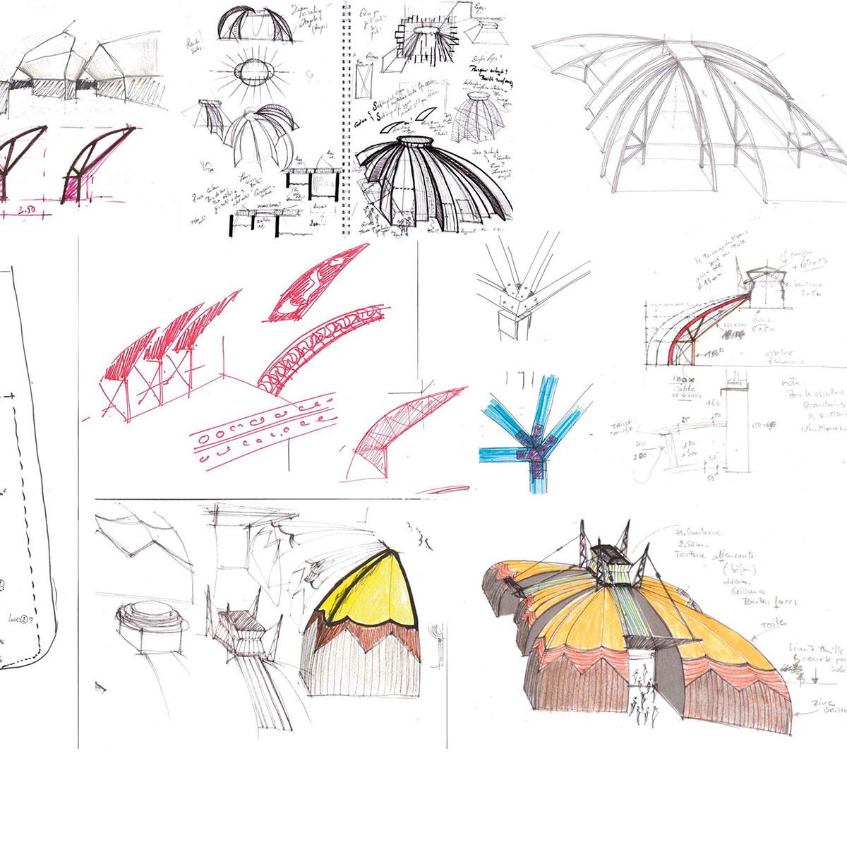 In Situ, Architecture, Culture(s) & Ville - Chapiteau pour la Compagnie des Contraires - Arts du cirque