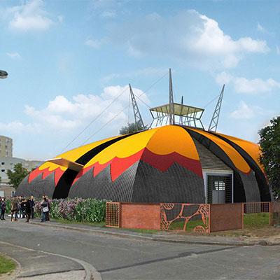 In Situ - Architecture, Culture(s) & Ville - Chapiteau pour la Compagnie des Contraires - Arts du cirque